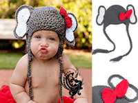 Cheap Cute Grey Elephant Infant Crochet Outfit Photo Prop Knitted Hat Cap Beanie Baby Costume, Nice Buy!