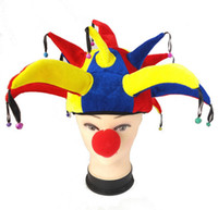 Wholesale 100set Cosplay Accessories Clown hat sponge nose party Props christmas Halloween supplies