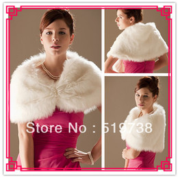 High Quality Custom Made Faux Fur Special Occasion Party Wrap Wedding Shawl