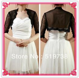 Wholesale Half Sleeve Lace Net Evening Wrap More Colors Wedding Jacket Lace Boleros