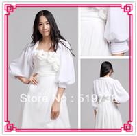 Wholesale Amazing Sleeve Chiffon Evening Wedding Wrap Jacket More Colors Princess Bolero for Wedding Dresses
