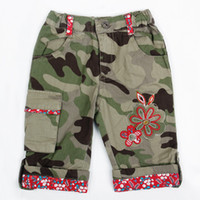 baby pants breeches - M3879 Nova m y baby girls camo shorts fashion summer shorts flower embroidery casual pants children short trouser knee breeches Burmudas