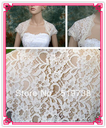 Free Shipping Bridal Jacket Shawls Wraps Ivory Lace Bolero