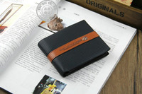 Wholesale Special promotion Brand designer Men s Leather soft Pocket Credit Bit cards clutch Wallets Black wallet money clip Purse QB135