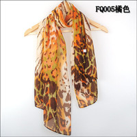 Wholesale 2013 New Women s Fashion special leopard printed Design chiffon georgette silk like scarf shawl W4227