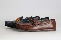 woven basket - Mens Leather Basket Weave Loafers Shoes Front Tie New in box