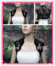 2013 Free Shipping Custom Made Bridal Shawls Wedding Jackets Wrap Black Lace Shrug