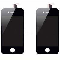 Передний ЖК-дисплей с сенсорным экраном дигитайзер Передняя корпуса узла Замена части для Iphone 4 4S GSM / CDMA 25pcs