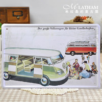 Cheap [ M-59 ] VW Wagon painting decorative painting Bar nostalgic tin metal crafts