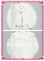 Faux fur jackets Цены-Вечер партии / Свадьба шаль девушки цветка искусственного меха куртки
