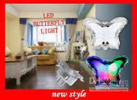 Wholesale Colorful CHANGING HOLIDAY LED BUTTERFLY LIGHT For Party LED floating night lights New Holiday light