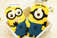 For Samsung Silicone  3D Cartoon Despicable Me 2 Minions Silicone Case Soft Cover for Samsung Galaxy Note3 N9000