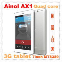 Wholesale Ainol Poseidon G AX1 inch Bulit in G Tablet PC MTK8389 Quad Core Dual Sim card Dual camera WIFI Bluetooth GPS HDMI OTG
