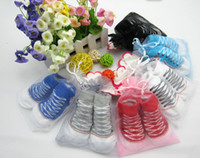 Wholesale months baby toddler shoes Baby Socks solid Newborn socks Cute fake shoes sock pairs