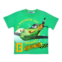 Wholesale Baby Boys Cartoon Movie Dusty Planes Ripslinger T shirts Children s Summer Clothing with short sleeves boy s tee top good quality kid shirt