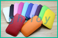 Wholesale Promotion colors pull tab leather pouch gorgeous case for iphone4S G For Samsung Galaxy S3 S4 For Samsung note