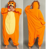 TV & Movie Costumes Unisex Animal Adults Lion onesie pajama for man and woman Party Jumpsuite Fashion party Dress