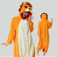TV & Movie Costumes Unisex Animal Adults Lion onesie pajama for man and woman Party Jumpsuite