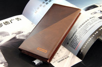 Wholesale High quality_Fashion Men medium long design Genuine leather cowhide mixed color wallet_Brand quot Pidengbao Kathystore