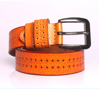 Wholesale Web cheap price high quality new designer orange yellow candy colorful women men leather belts