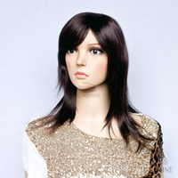 good quality wigs - 100 Kanekalon synthetic wigs Brown wigs medium long straight women wigs natural looking good quality wigs in stock ship quick Discount wigs