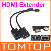 Wholesale HDMI DVI Extender Extension P Cat5e Cat6 Repeater Cable up to M Video Adapter Cable Accessory V562