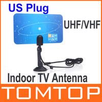 Wholesale Digital Indoor TV Antenna HDTV DTV HD VHF UHF Flat Design High Gain US EU Plug New Arrival TV Antenna Receiver V560