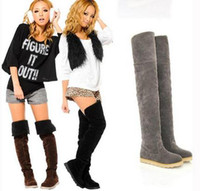 Wholesale Grey Winter Thigh High Boots - Buy Cheap Grey Winter