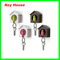 ECO Friendly best bird houses - Best Price New Hot Bird Nest Sparrow House Key Chain Ring Chain Wall Hook Holders Plastic Whistle