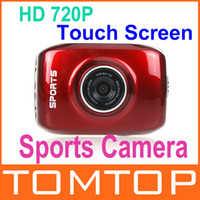 waterproof sport camera hd digital camera video camcorder - HD P Touch Screen Sports Action Camera Mini Digital Camcorder with Waterproof Case Red Sports Video Camera D931