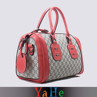 Wholesale New Women Handbags Celebrity Totes Messenger Bags Fashion Bags Soft PU Leather Shoulder Bag Grey amp Red YAHE Brand WB3052