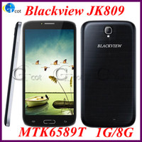 Blackview  6.0 Android android cell phone Blackview JK809 MTK6589T quad core 1.5Ghz 1GB RAM 8GB ROM 6.0 inch HD screen 12.6MP Camera Android4.2 3G Free 8GB card