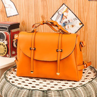 Wholesale Hot Designers Handbag Celebrity Fashion Elegant Bags Totes Messenger Bags Soft PU Leather Bags Orange Black Color YAHE Brand