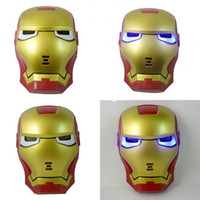 Wholesale Cosplay Iron Man Mask with Blue Lite Up Eyes Halloween Toys Mask