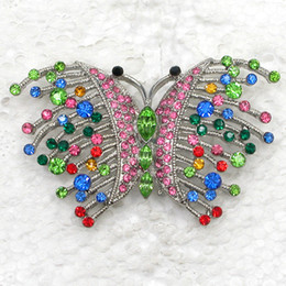 Wholesale Crystal Rhinestone Butterfly Brooches Fashion Costume Pin Brooch jewelry gift C905