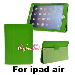 Wholesale High Quality PU Magnetic Litchi Book Leather Smart Case Cover With Stand For New ipad Air