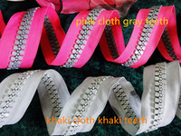 bulk meter - 20 oversize resin zipper sale by meter bulk factory direct for bags Project accessories colors