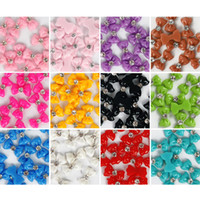 Wholesale pcs3D Glitters Bow Tie Bowtie sticker Acrylic Slices Rhinestones Nail Art Tips DIY Colors Cho