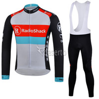Full Breathable Men High quality cycling jersey set RadioShack long sleeve Cycling jersey bib cycling clothing ultra breathable & soft cycling kit cheap online