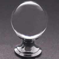 Cheap 30mm Crystal Glass Cabinet Cupboard Drawer Pull Handle Knob