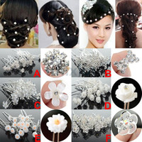 Wholesale 40pcs Wedding Bridal Jewelry U Shape Crystal Hair Pin Hairpins Hair Jewelry Accessories JH03006 JH03011
