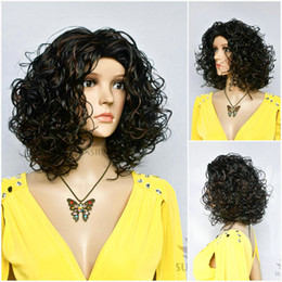 Wholesale Black women wigs afro curly wigs African american wigs Afro wigs UK mixed colors wigs celebrity wigs Vivica fox wig