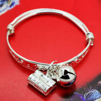 South American alloy access - Access to safe infant baby child lock printing pray one hundred children s bracelet bangle