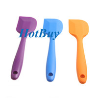 Wholesale Silicone Batter Cake Baking Spatula Scraper Kitchen Tool Thermostability Random color cm