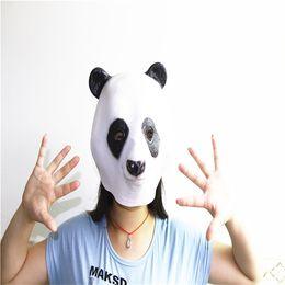 Panda Mask Creepy Animal Halloween Costume Theater Prop Novelty Latex Rubber Funny Panda Mask Free Shipping