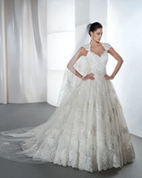 Cheap Ball Gown ball gown wedding dress Best Model Pictures V-Neck v neck bridal dress