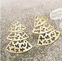Wholesale fashion pine christmas tree stud earrings for women unique design earrings cheap china jewelry
