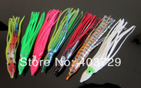 Soft Baits Yes Artificial Bait Free shipping 25pcs 12cm mixed color soft fishing lure Octopus plastic lure 5pcs in a package