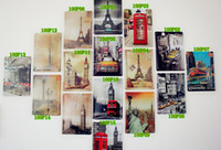 Wholesale New arrival metal crafts Christmas Gift Retro poster Vintage tin signs eiffel home bar cafe Pub wall decor metal painting cm P