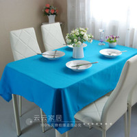 Wholesale Candy color table cloth cloth cotton canvas tablecloth gremial fashion dining table cloth customize solid color brief
